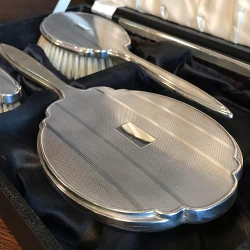 Silver Vanity Set in Original Case image-6