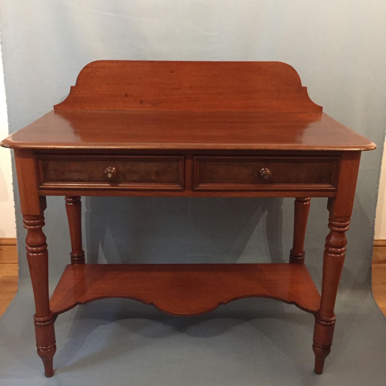 Small Victorian Gany Two Drawer Writing Table Circa 1890