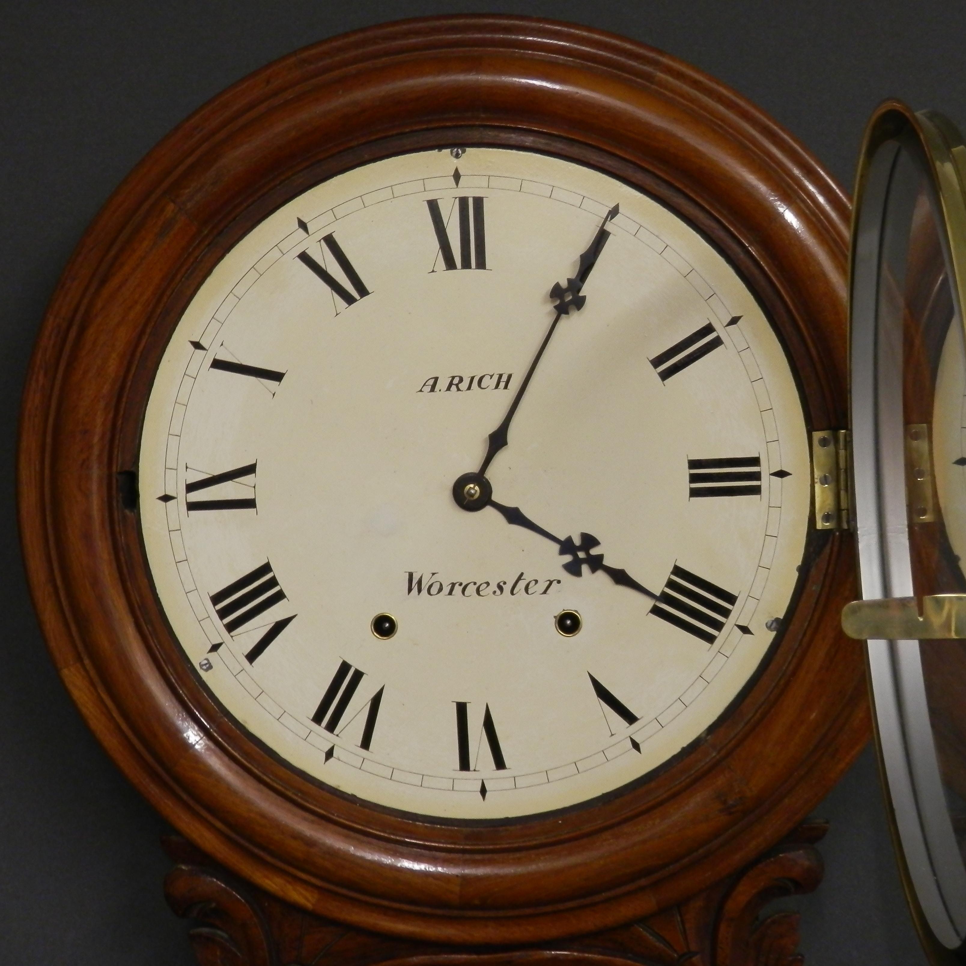 Drop Dial Striking Clock Wall Clocks Hemswell Antique