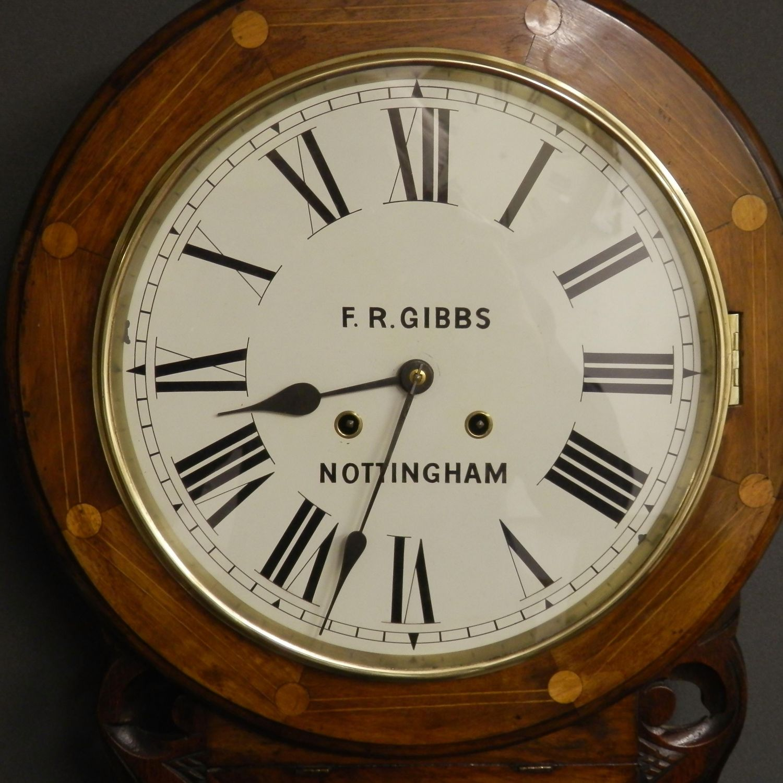Striking Drop Dial Clock Wall Clocks Hemswell Antique