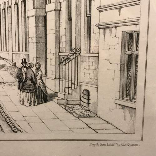 Mounted Engraving of St.Marys Church Stamford by Charles Wickes image-5