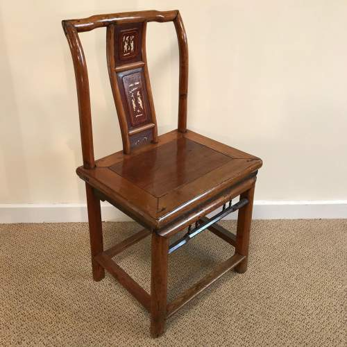 A Pair Of Qing Dynasty Chinese Hardwood Chairs image-2