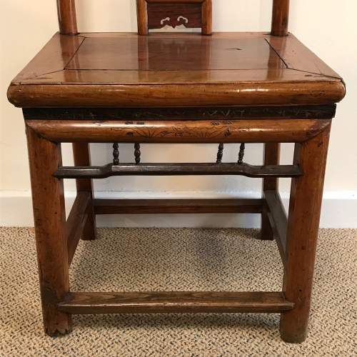 A Pair Of Qing Dynasty Chinese Hardwood Chairs image-5