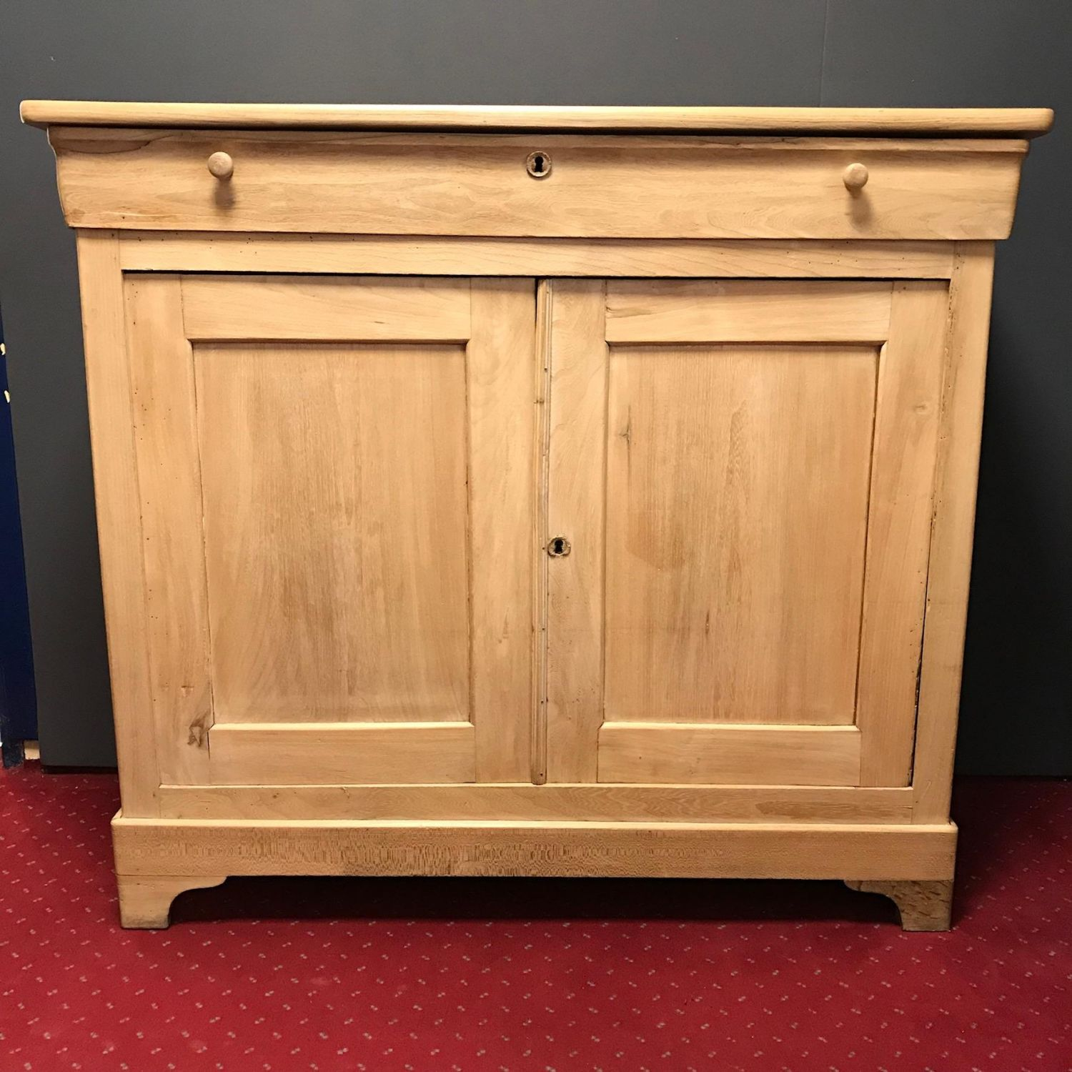 French Bleached Oak Sideboard Antique