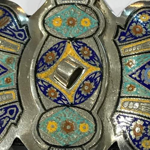 Fine Russian Silver and Enamel Buckle image-3