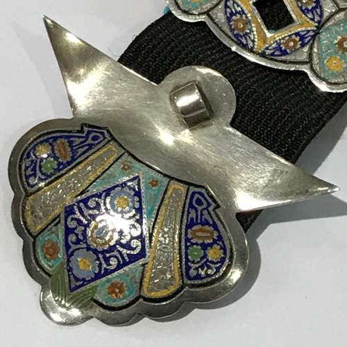 Fine Russian Silver and Enamel Buckle image-4