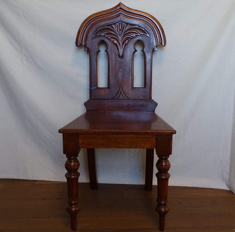 Quality Victorian Mahogany Hall Chair - Quality Victorian Mahogany Hall Chair - Antique Chairs - Hemswell