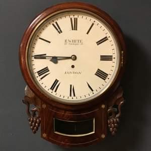 19th Century English Drop Dial Wall Clock
