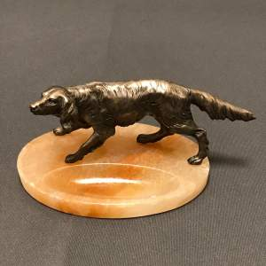Silvered Metal Model Of a Setter