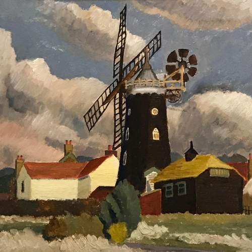 20th Century Windmill Painting by Christopher Tombleson image-2