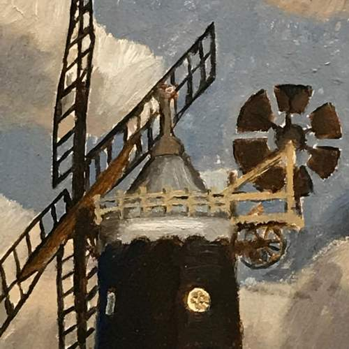 20th Century Windmill Painting by Christopher Tombleson image-3