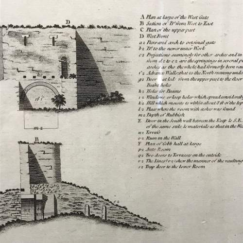 Rare Early Plan Of Lincoln Castle image-4