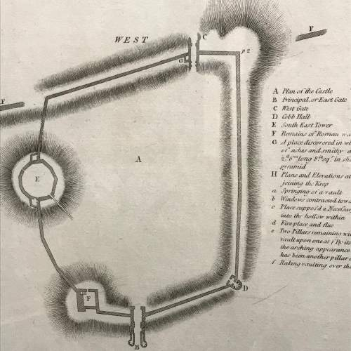 Rare Early Plan Of Lincoln Castle image-5