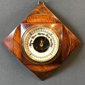 Oak Cased Aneroid Wall Barometer