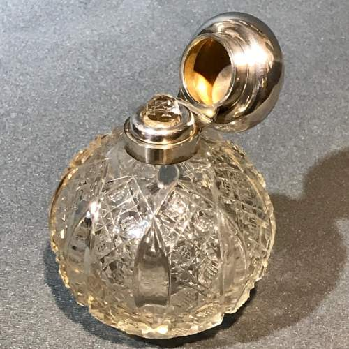 Asprey Silver Topped Cut Glass Perfume Bottle image-2