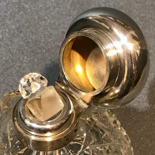Asprey Silver Topped Cut Glass Perfume Bottle image-3