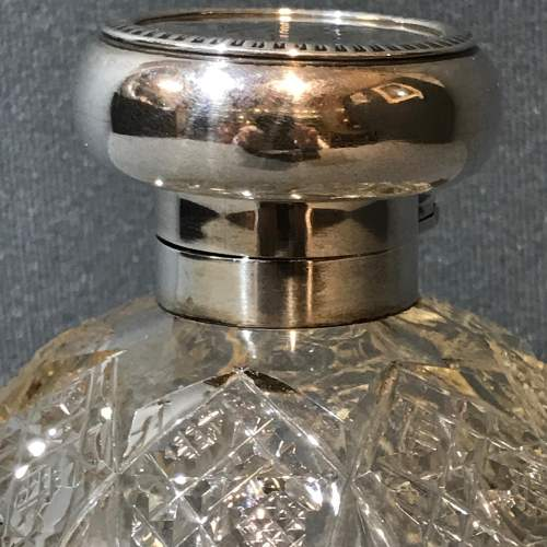 Asprey Silver Topped Cut Glass Perfume Bottle image-6