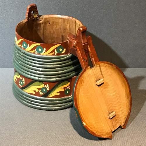 Swedish Coopered Folk Art Tankard image-2