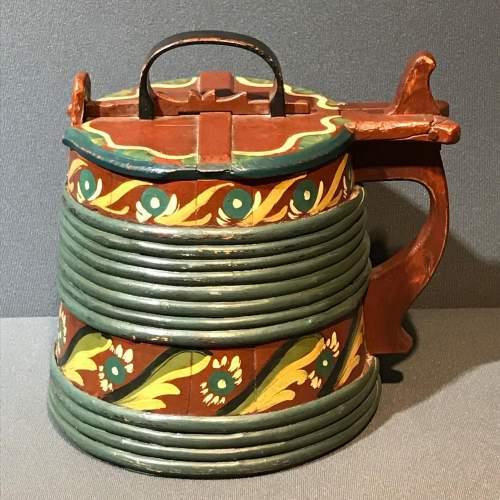 Swedish Coopered Folk Art Tankard image-4