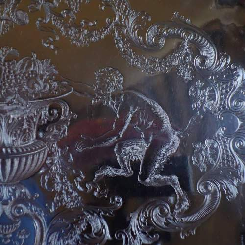 Danish Silver on Copper Engraved Salver image-4