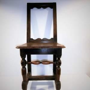 18th Century Oak Backstool