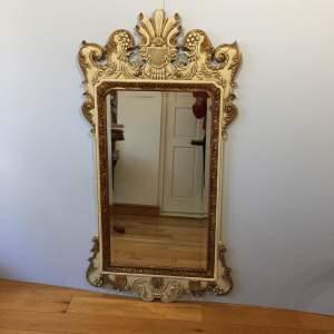 A Large Parcel Gilt Fretwork Bevelled Mirror