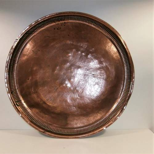 Middle Eastern Copper Tray image-1