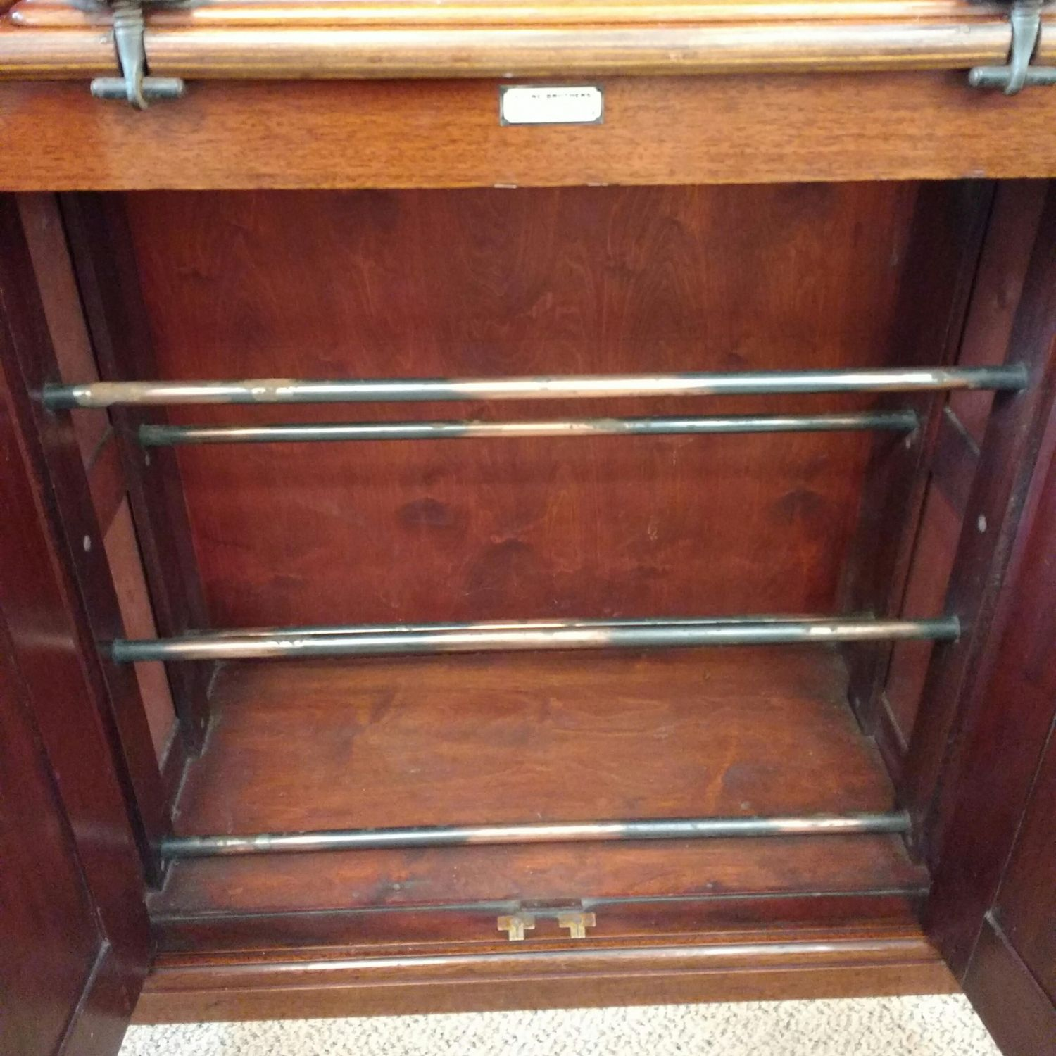 Mahogany shoe cupboard with clothes press furniture etc for Furniture etc