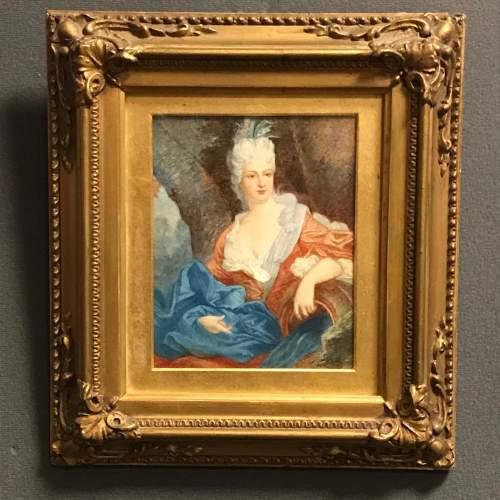 19th Century French Watercolour Portrait image-1