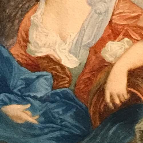 19th Century French Watercolour Portrait image-3