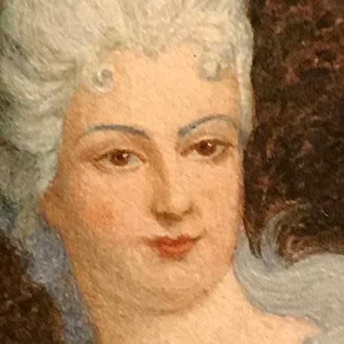 19th Century French Watercolour Portrait image-4