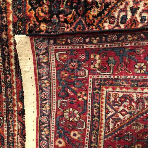 Old Hand Knotted Persian Rug  Senneh image-5