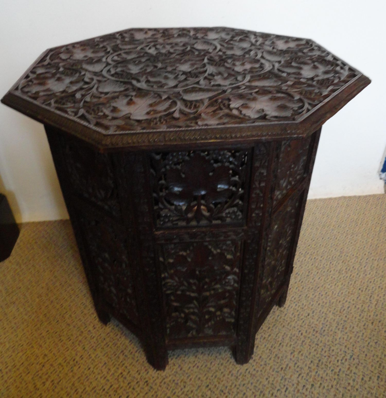 Indian Wooden Folding Hexagonal Table Antique Tables Hemswell Antique Centres