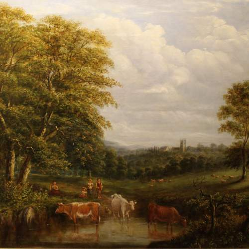 19th Century Landscape with Cattle image-1