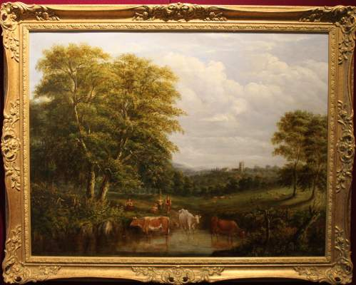 19th Century Landscape with Cattle image-2