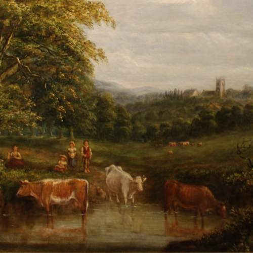 19th Century Landscape with Cattle image-3