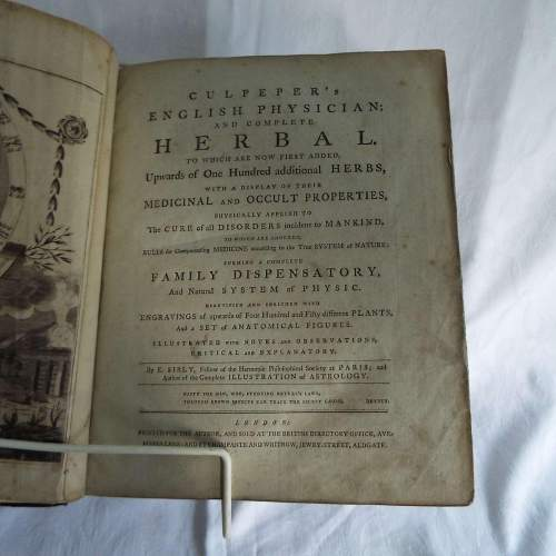 Culpepers English Physician and Complete Herbal 1790s Edition image-4