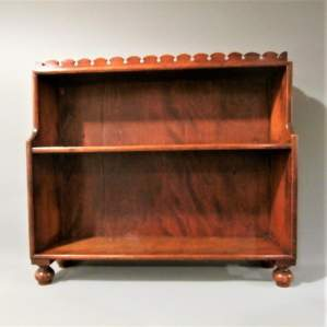 George IV Mahogany Table Top Waterfall Bookcase. Circa 1825.