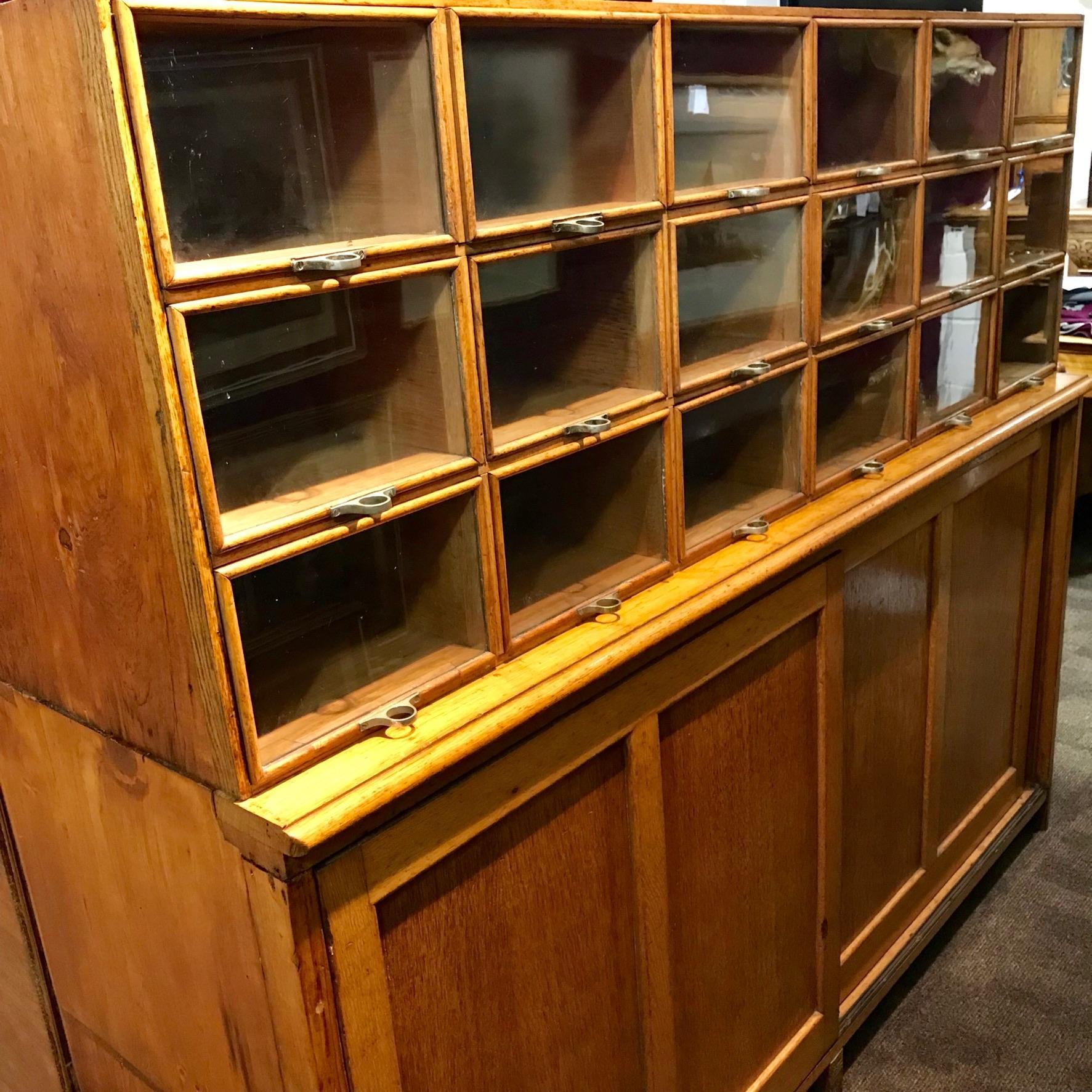 Vintage 1920s Haberdashery Cabinet Antique Cabinets