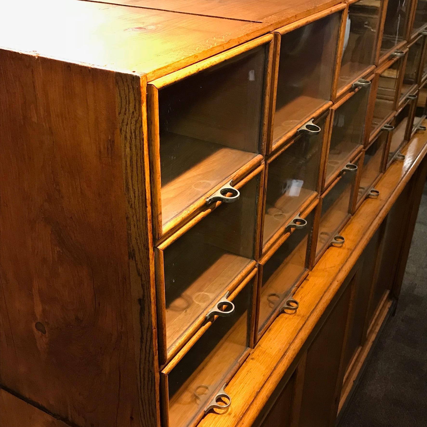 Vintage 1920s Haberdashery Cabinet