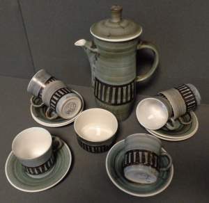 Stylish Cinque Ports Pottery Coffee Set
