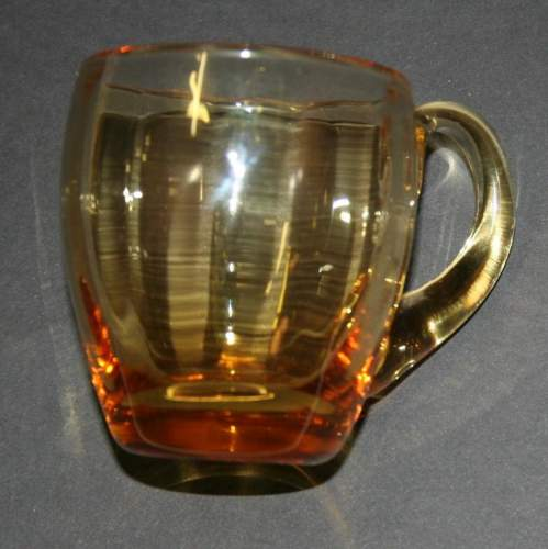Wonderful Set of 6 Victorian Amber Coloured Glass Custard Cups image-2