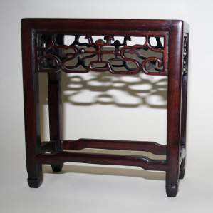 Antique Chinese Hardwood Ornament Stand