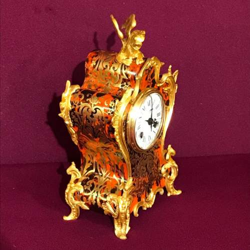 French Boulle Mantel Clock image-2