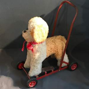Vintage 1950s Toy Dog On Wheels