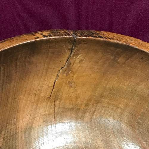 Large 18th Century Sycamore Dairy Bowl image-5