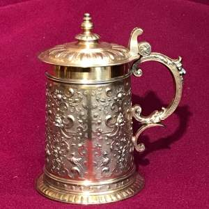 WMF Silver Plated Tankard with Hinged Lid