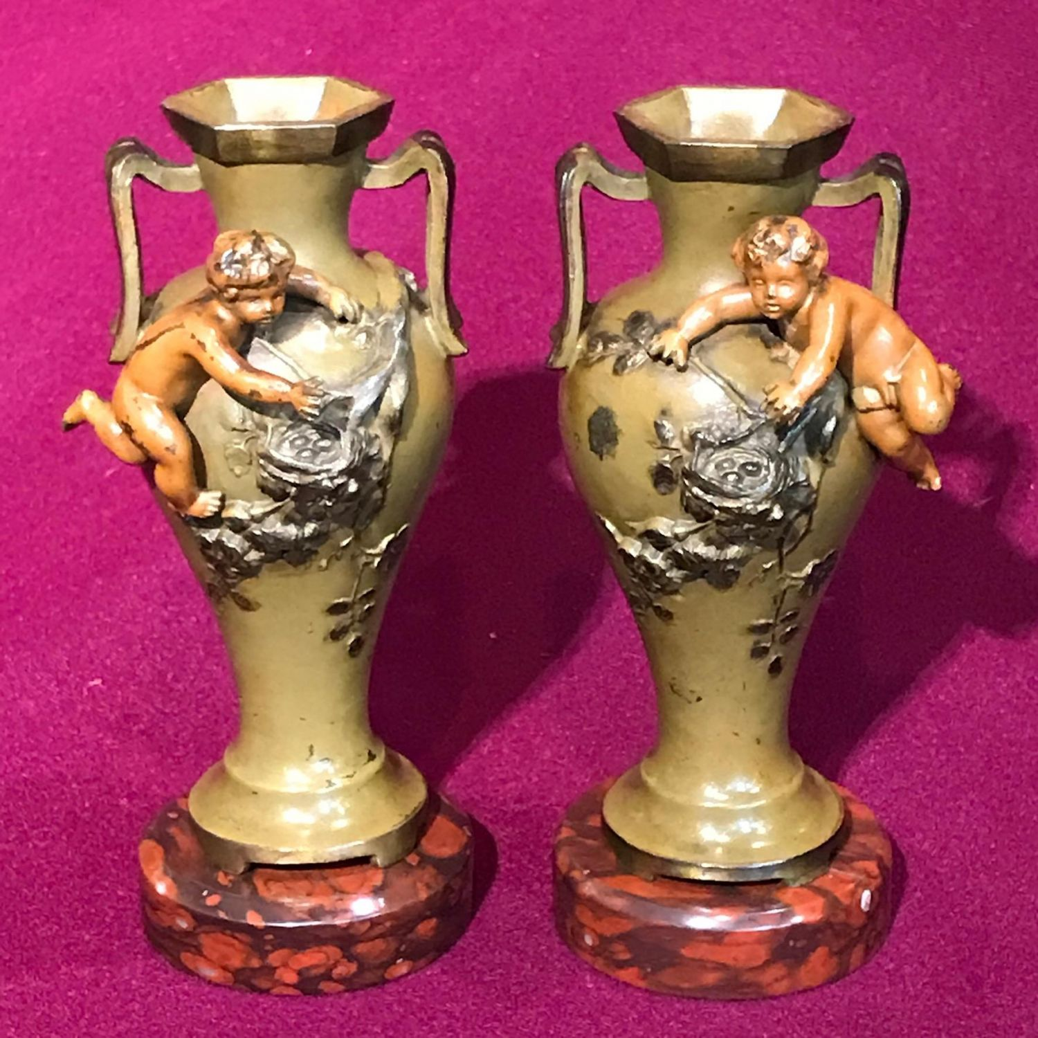 Pair of french polychrome patinated metal vases other metalware b0d21c2a 8f19 4193 8e4a d5a95e2b1fbeeg reviewsmspy