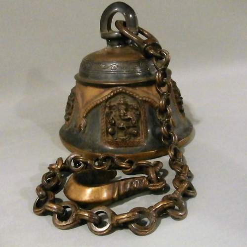 Beautifully Crafted Bronze Brass Temple Bell image-1