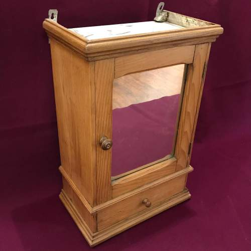 1930s French Pine Bathroom Cabinet image-1